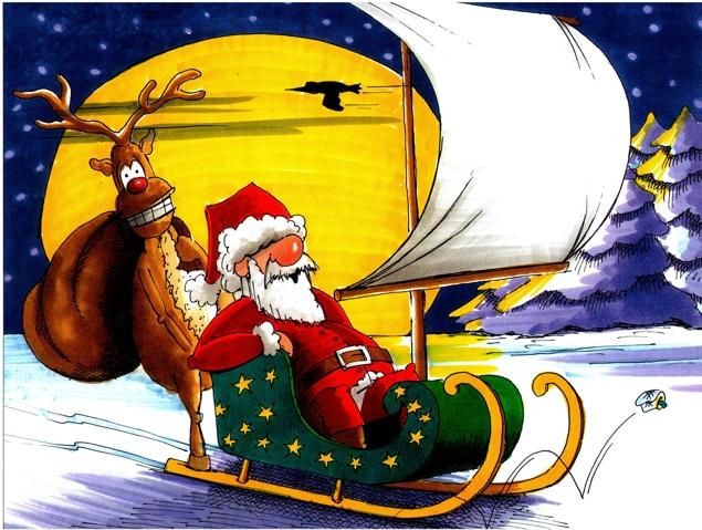 Segelbegeisterter Nikolaus